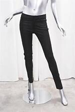 VINCE Womens Black Leather Lizard Print Embossed Skinny Jeans Pants 4 NEW