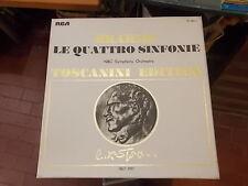 BRAHMS LE QUATTRO SINFONIE TOSCANINI EDITION 3 LP COFANETTO