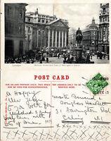 1913 THE MANSION HOUSE & DUKE OF WELLINGTONS STATUE LONDON POSTCARD