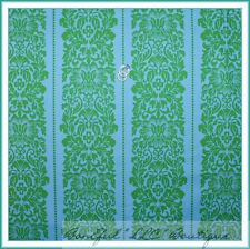 BonEful Fabric FQ Cotton Quilt Green Aqua Blue Flower Dot L Stripe Decor Wedding
