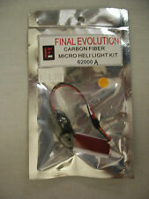 FINAL EVOLUTION CARBON FIBER MICRO HELI LIGHT KIT AMBER 62000 NEW IN PACKAGE