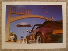 1984 Porsche 911 Cabriolet Showroom Advertising Poster