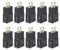 10x 2A Black USB Wall Charger Plug AC Home Power Adapter For Samsung Android LG