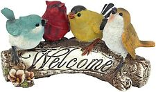 Birdy Welcome Sign Statue Sculpture Garden Yard Art Decor Lawn Home Porch Patio
