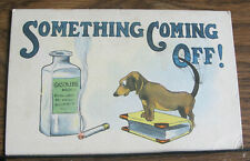 Postmarked 1916 Odin Illinois IL Vintage Postcard Humorous Gasoline Cigarette