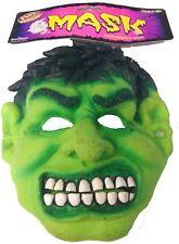 Childs Incredible Hulk Latex Mask Green Monster Fancy Dress