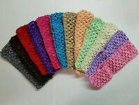 12 Pcs Wholesale Baby Girl Crochet HeadBands For Hair Bows.