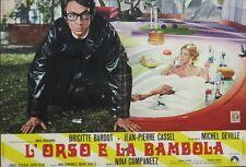 BEAR AND THE DOLL L'OURS ET LA POUPEE Italian fotobusta movie poster 1 BARDOT