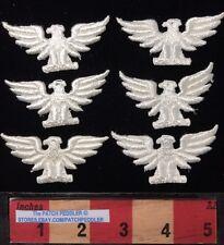 WHITE Eagle 6 Patch Lot ~ American Bald Eagle, Bird Emblem Of USA. 2 1/2