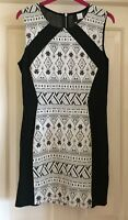 H&M Black + White Pattern Ladies Dress, Size 12 - Fab!