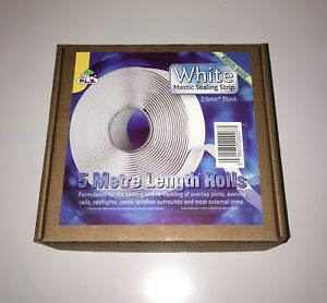 CARAVAN / MOTORHOME - White Mastic Sealing Strip 2.5mm Thick X 45mm Wide X 5 Mts