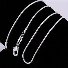"""925 Sterling Silver snake Chain Necklace 16"""" 1mm NEW"""