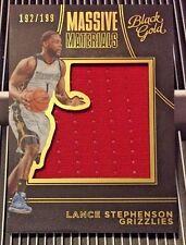 Lance Stephenson 2015-16 Panini Black Gold Massive Materials GU Jersey #'d/199