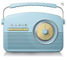 Akai A60010BLDAB Vintage Retro Style DAB/FM Bluetooth Radio in Blue
