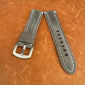 Men's Two-Piece Faux Leather watch strap 22mm