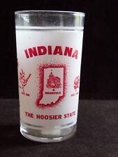 Vintage Retro Federal Glass Indiana Hoosier State Glass Tumbler Souvenir