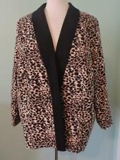 Tahari, ASL Open Front Animal Print Blazer, Jacket, Lined, Size 24W, Polyester