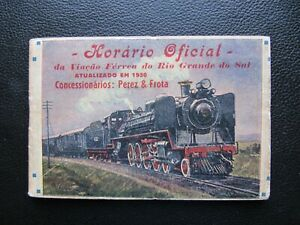 BRASIL Rio Grande do Sul railways official timetable 1950 pages 64