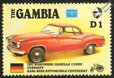 1957 BORGWARD ISABELLA COUPE Germany CAR STAMP (1986 The Gambia)