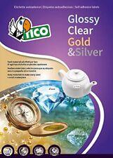 Tico PG4-4525 Etichette Lucide Rettangolari, 100FF, 45 x 25, Bianco