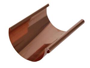 Dachrinne Kupfer halbrund, Länge 1,00m