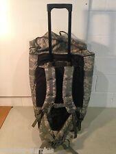 Huge U.S Military Issue U.S Army Rolling Wheels Deploymnent Duffel Bag ACU Camo