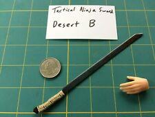 """Desert Tactical Ninja Sword B"" 1:6 Scale Custom Steel Miniature By Auret"