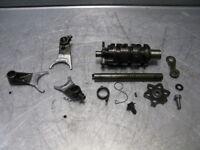 Honda XR350R XR350 XR 350 R 83 1983 Transmission Shift Forks Shaft Drum Misc OEM