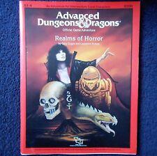S1-4 Realms dell'orrore Advanced Dungeons & Dragons Modulo Avventura D&D TSR 9209