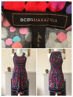 Bcbg Maxazria Max Mara Dress Summer Colorful Size XS Immaculate VGC Multicolour