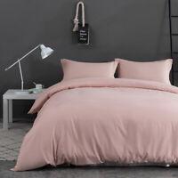 3PCS Quilt Duvet Cover Set With 2'' Drop Pillowcases Microfiber Bedding Queen US
