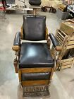 Early 20th Century Hydraulic Barber Chair by Theo A  Kochs Chicago
