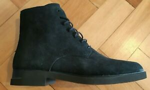 Camper Iman Womens Black Boot Suede Leather Lace and Zip Ups Style: K400300-003