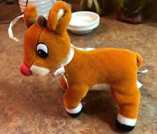 My First Rudolph Red Nosed Reindeer Baby Rattle Lovey Plush Soft Toy Holiday