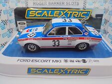 "Scalextric ""2021 Club"" C4204 Ford Escort Club Car #33 lights/DPR  BNIB"
