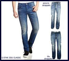 Jeans denim g-star raw uomo g star 3301 gamba dritta svasati dritti w32 w33 w34