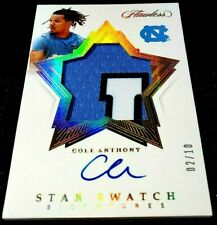 COLE ANTHONY 20-21 FLAWLESS GOLD LETTER PATCH AUTO ROOKIE RC 2/10 JERSEY # 1/1