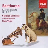Beethoven Piano Concertos 4 & 5 Zacharias Vonk Emi Classics CD.New & Sealed