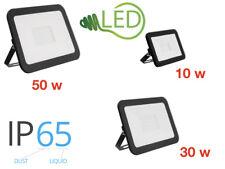 Outdoor LED Floodlight 10W 30W 50W  Slim Line 6500K Flood Light IP65 Black