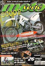 MOTO VERTE 290 YAMAHA 250 YZ HONDA XR 400 BETA 125 Alp GAS GAS 125 Pampera 1998
