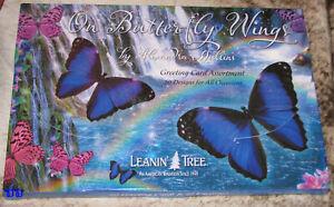 LEANIN TREE On Butterfly Wings 20 CARD ASSORTMENT #90776~1 each of 20 designs~