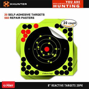 "Xhunter 8"" 22Cm Reactive Shooting Target Self-Adhesive Bull Targets 20Pk"
