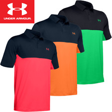 UNDER ARMOUR MENS PERFORMANCE STRETCH COLORBLOCK GOLF POLO SHIRT @ 50% OFF