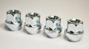 Set of 4 x M14 x 1.5, 22mm Hex Open Alloy Wheel Nuts (Silver)