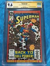 Superman #50 2nd - DC - CGC SS 9.6 NM+ - Signed by Jerry Ordway, Brett Breeding