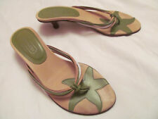 COACH CARLEEN star fish thong kitten heel leather sandals flip flop shoes 6  **