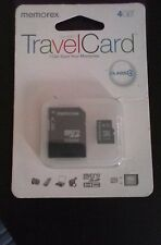 Memorex 4 GB Travel Card Class 4 Micro SDHC New In Package