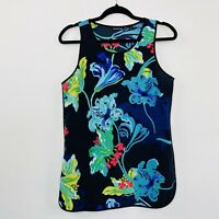 Country Road Womens Singlet Top Floral Black Bright Size S fit S - M