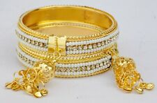 Indian Latkan Bangles Set Bollywood Bridal Jewelry Kids Hanging Gold Color Bangl