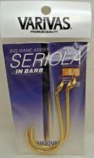 1pk Varivas Seriola In Barb Jigging Fishing Big Game Assist Hooks Size 8/0 Gold